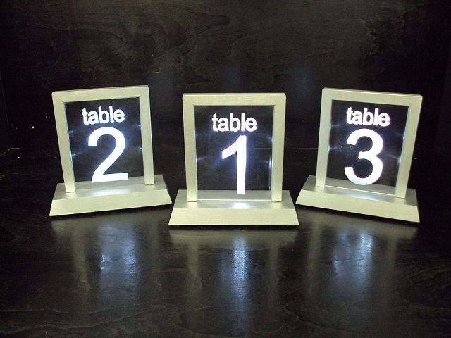 Lighted Table Numbers